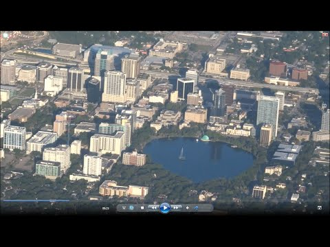 Orlando - Dallas DFW flight AA698: Lake Eola, downtown, Barrier Islands, Bay St. Louis MS 2016-05-28