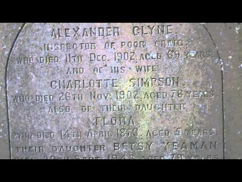 Clyne Gravestone Rossie Island Cemetery Montrose Angus Scotland
