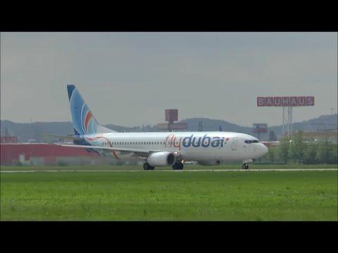 [HD] FlyDubai Boeing 737 roaring takeoff at Bratislava (M. R. Stefanik) - 02/05/2015