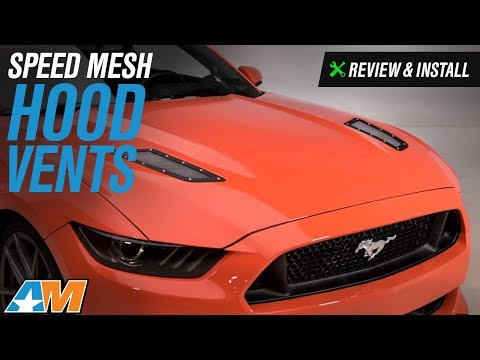2015-2017 Mustang (GT) Speed Mesh Hood Vents Review & Install