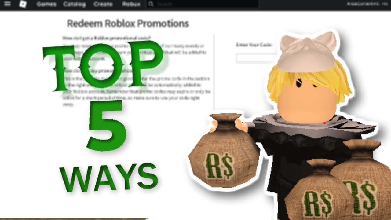 Top 5 Way To Earn Robux On Roblox With Blox Land Working 100 October Youtube