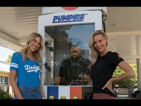 Kourtney Turner visits Pumpire promotion by 76 Gas for giveaway partnership with Los Angeles Dodgers