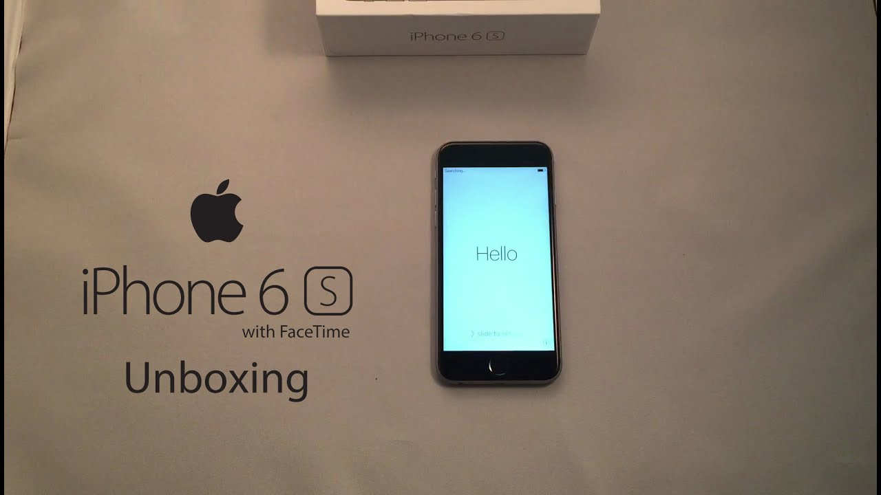iPhone 6S with FaceTime in Dubai Unboxing