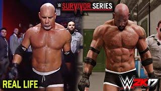 WWE 2K17 vs Real Life  - Goldberg Survivor Series Entrance Comparison! (PS4/XBOX ONE)