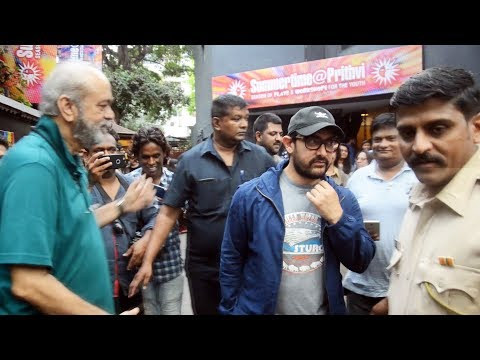 Aamir Khan Spotted At Prithvi Theatre Juhu - Watch Video