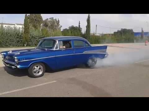 1957 chevrolet burnout
