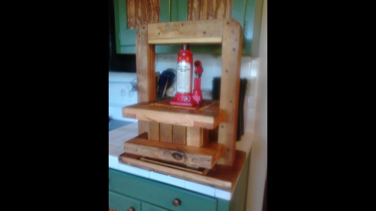 my diy cider and fruit press youtube. Black Bedroom Furniture Sets. Home Design Ideas