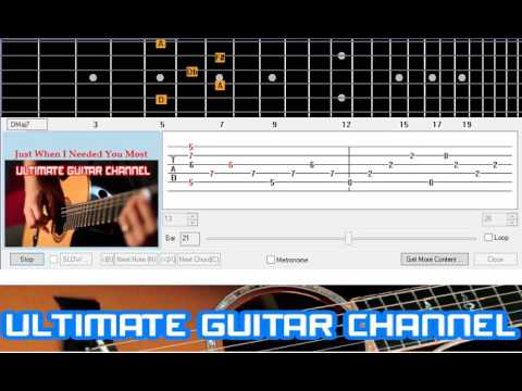 Guitar Solo Tab] Just When I Needed You Most (Randy Van Warmer ...