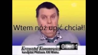 Krzysztof Kononowicz od tyłu (backmasking, napisy)