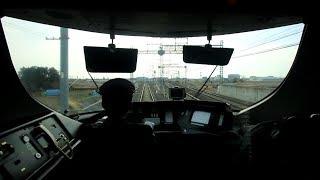 """近鉄特急 アーバンライナー 中川短絡線の前面展望 Kintetsu Limited Express """"URBAN LINER"""" (2019.2)"""