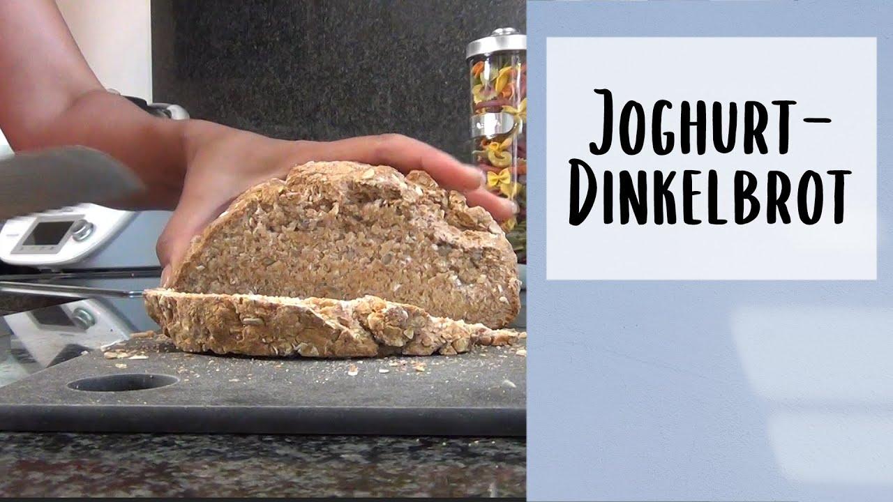 Gesundes Joghurt Dinkelbrot zum selber machen/ohne Hefe/ohne  Rührgerät/Dauer 20 Min
