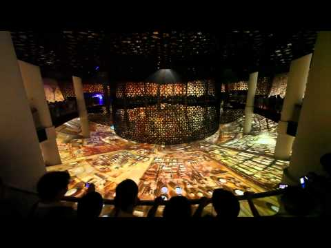 "Saudi Arabia Pavilion at Expo Shanghai 2010 ""The Treasure"" Giant 1600 square meter Screen"