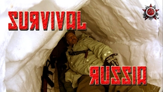 Russian Winter Night In The Military Type Patrol Snow Shelter