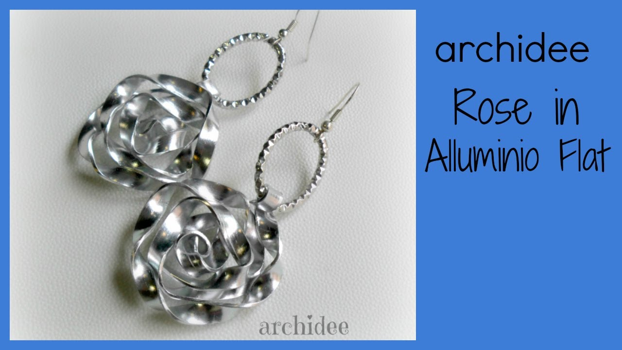 abbastanza Tutorial | Tecnica Wire | Rosa in Alluminio Piatto | Flat Aluminum  WQ27