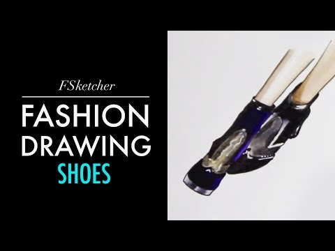 SHOES WITH TRANSPARENT ELEMENTS | Fashion Drawing