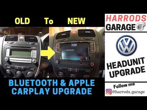 VW Mk5 Golf OEM Radio Upgrade   Added Bluetooth & Apple CarPlay