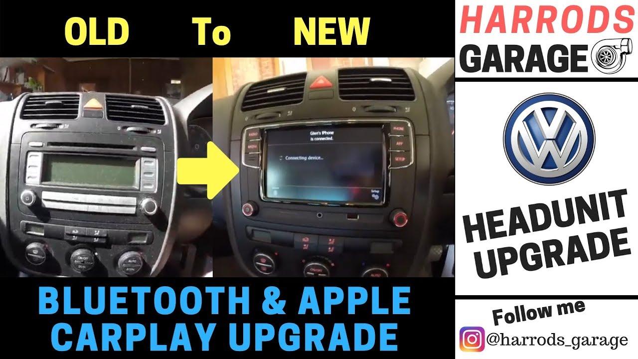 VW Mk5 Golf OEM Radio Upgrade | Added Bluetooth & Apple CarPlay