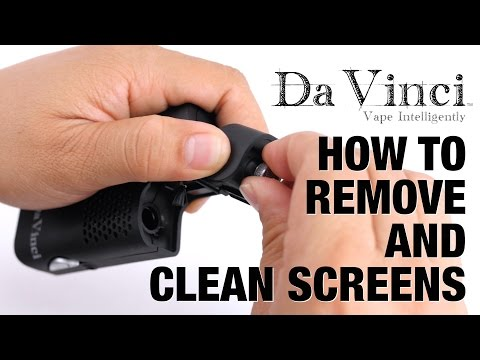 How To Remove and Clean Screens For DaVinci Vaporizers
