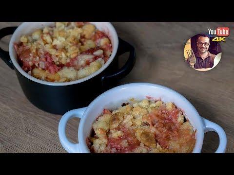crumble-fraise-rhubarbe-|-recette-dessert-facile-et-rapide