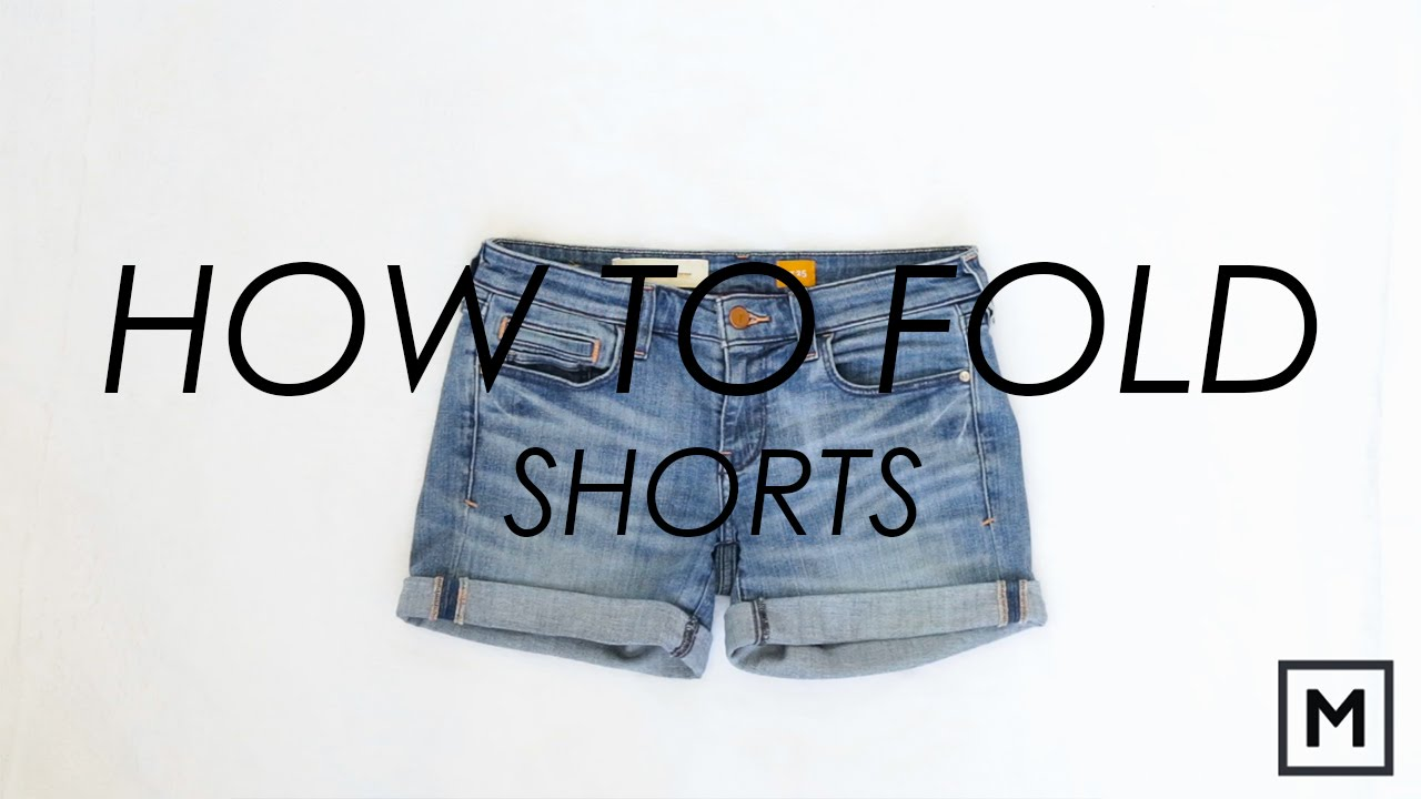 Megan Jedlinski How To Fold Shorts Konmari Method Youtube