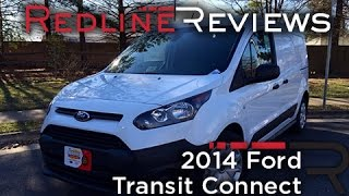 2014 Ford Transit Connect Review, Walkaround, Exhaust, & Test Drive