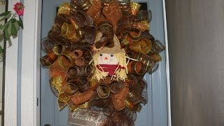 Thanksgiving Deco Mesh Wreath