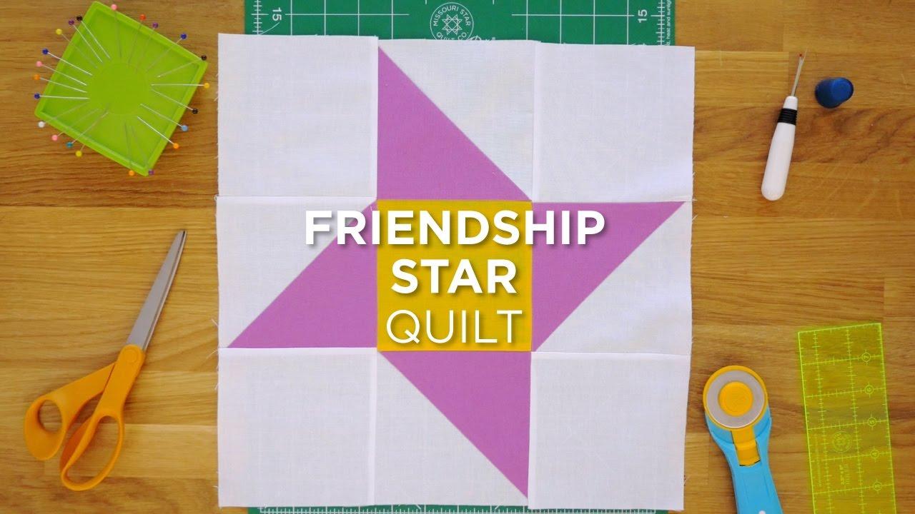 Quilt Snips Mini Tutorial Friendship Star Youtube