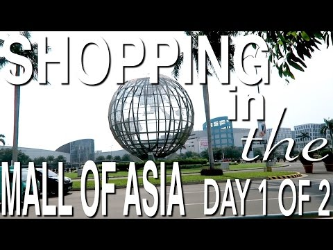 SHOP WITH ME! VISITING THE GIANT MALL OF ASIA - THE 13TH LARGEST MALL IN THE WORLD! DAY 1 OF 2
