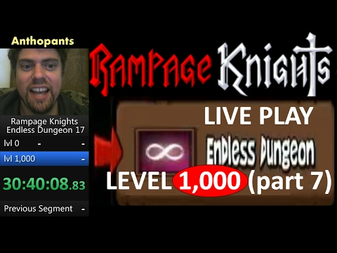 Rampage Knights Endless Dungeon Live Playthrough to level 1,000 (part 7)