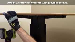 Single-column Electric Height Adjustable Desk Assembly - Ergo Experts