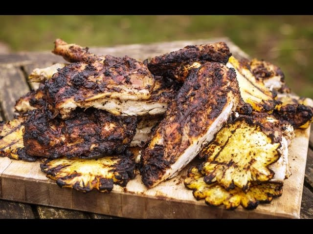 Genevieve Taylor - Spatchcocked jerk chicken with grilled pineapple