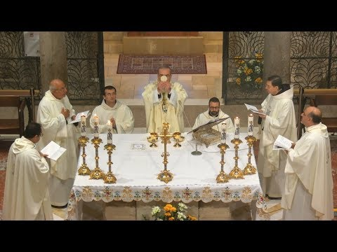 Solemn Mass On The Solemnity Of The Annunciation Of The Lord, From Nazareth, Israel 25 March 2020 HD