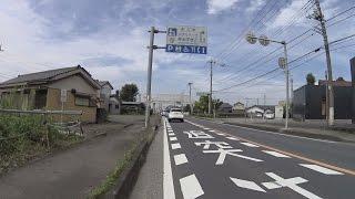 【自転車車載】国道4号杉戸町すきすきすぎーと36〜幸手市上高野(北)交差点(2016/09/25)