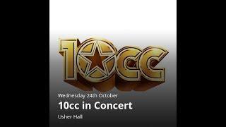 10cc Live In Concert @ Usher Hall, Edinburgh, Scotland Wednesday 24...