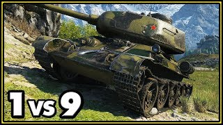 T-34-85M - 14 Kills - 1 vs 9 - World of Tanks Gameplay