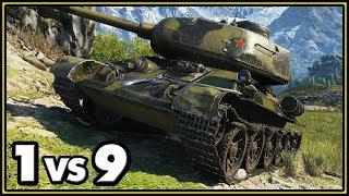 T-34-85M - 14 Kills - 1 vs 9 - World of Tanks Gameplay