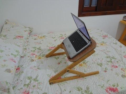 Como Fazer um Suporte para Notebook - Use Sentado ou Deitado !