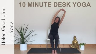 Helen Goodjohn | Undo The Desk | 10 Minute Desk Yoga Practice