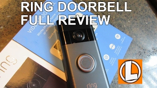 Ring Wi-Fi Enabled Video Doorbell Review - Unboxing, Setup, Installation, Footage
