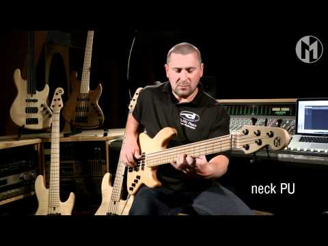 Adrian Maruszczyk and the 'Elwood L'  Bass.