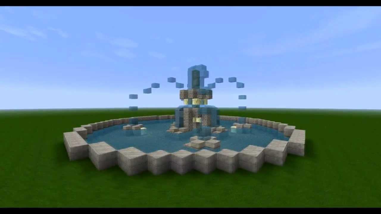 Minecraft Springbrunnen Hd Youtube