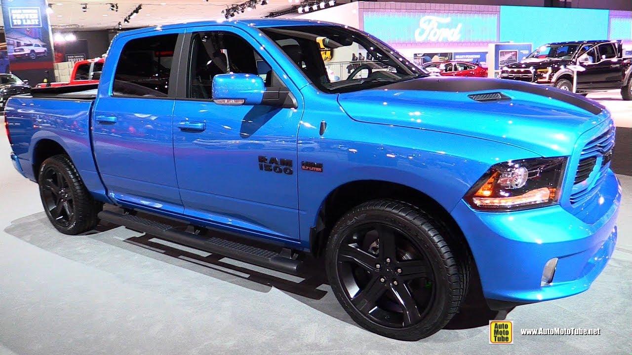 2018 Ram 1500 Hydro Blue Sport Exterior And Interior