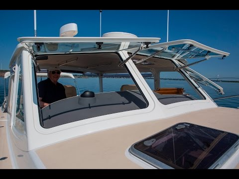Push Button Electric Windows on MJM Yachts 50z and 40z