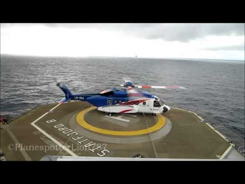 Bristow Sikorsky S-92 Takeoff from Statfjord B