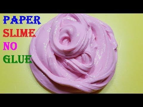 Paper Slime With Flour No Glue No Borax Slime Recipes