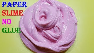 Paper Slime With Flour No Glue No Borax Slime Recipes