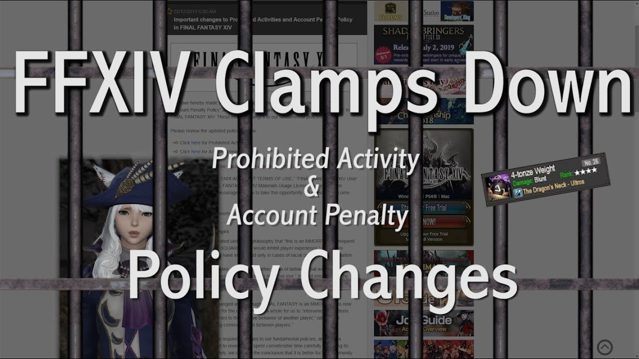 FFXIV: New Account Penalty & Safety Policy