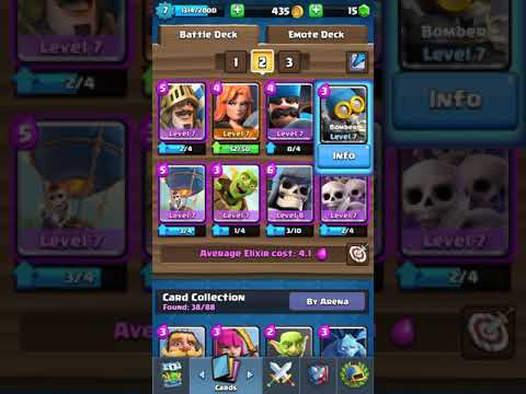 Best Battle Decks For King Level 7 8 And For 2v2 Battle Youtube