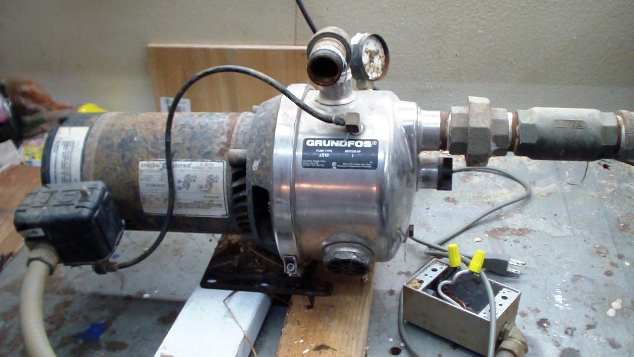 Grundfos Js10 1hp Stainless Jet Pump Youtube Motor Wiring Diagrams