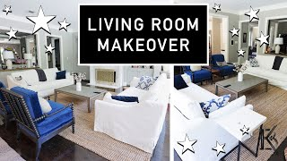 LIVING ROOM MAKEOVER on a BUDGET // Transformation + Kid-Friendly!